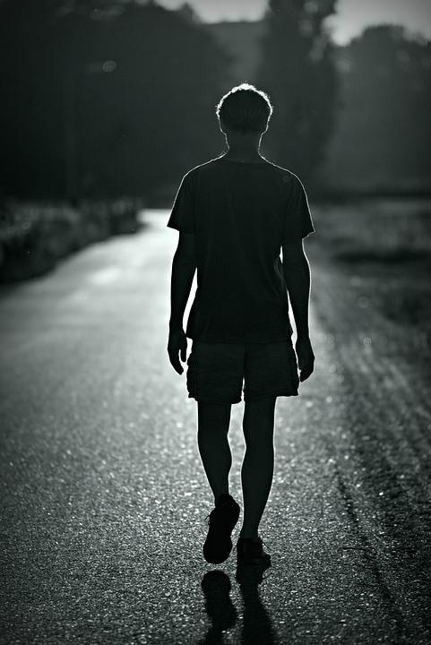 Person, Walking, Silhouette, Away, Man, People, Walk