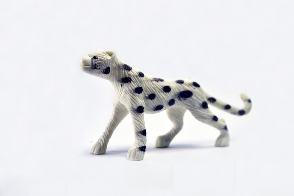 Cheetah, Walk, Toy, Icon, Fauna, Wild, One, White
