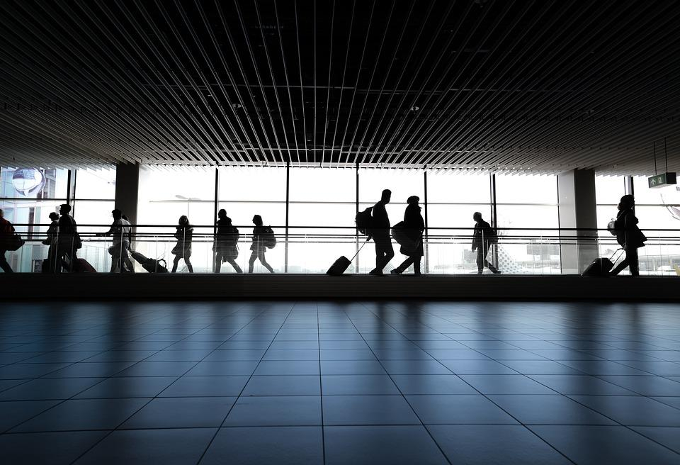 Airport, People, Walking, Waiting, Gate, Walk, Woman