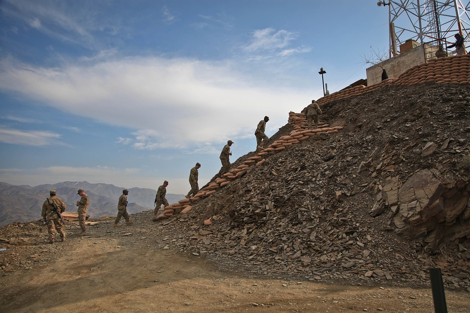 Afghanistan, Soldiers, Stairs, Walking, Mountains
