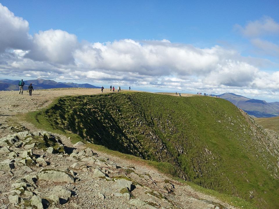Summit, Helvelyn, Hill, Walkers, Walking, Mountain