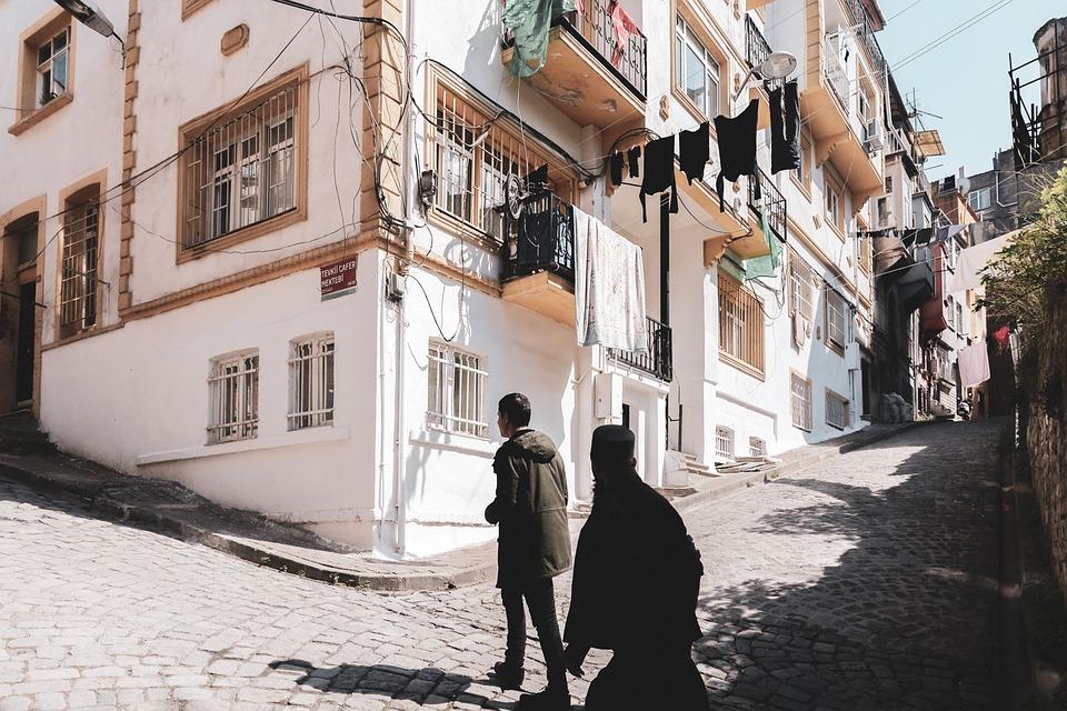 Walking Man, Ladder, M, People, Dark, Infrastructure
