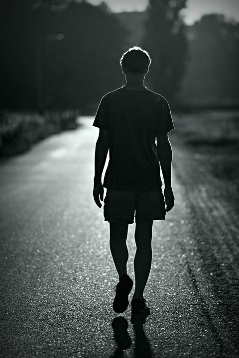 Person, Man, Walking, Motion, Road, Silhouette