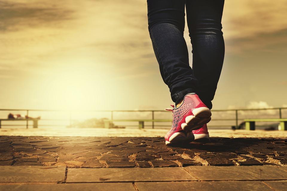 Legs, Shoes, Walking, Walk, Path, Trail, Rubber Shoes