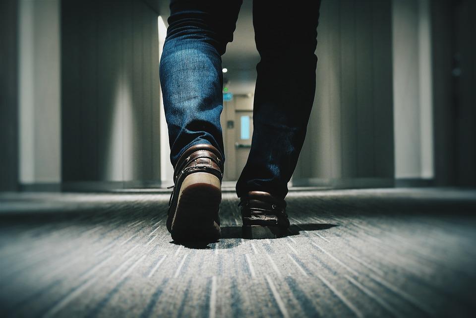 Denim, Feet, Footwear, Legs, Man, Shoes, Walking