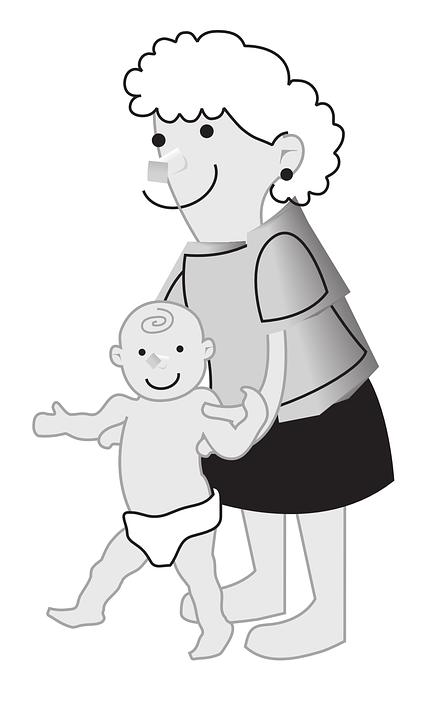 Mother, Child, Walking, Smiling