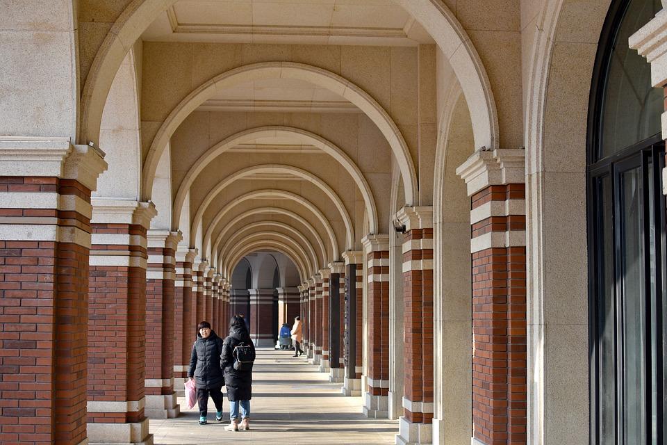 Arches, People, Walkway, Passageway, Arcade, Corridor