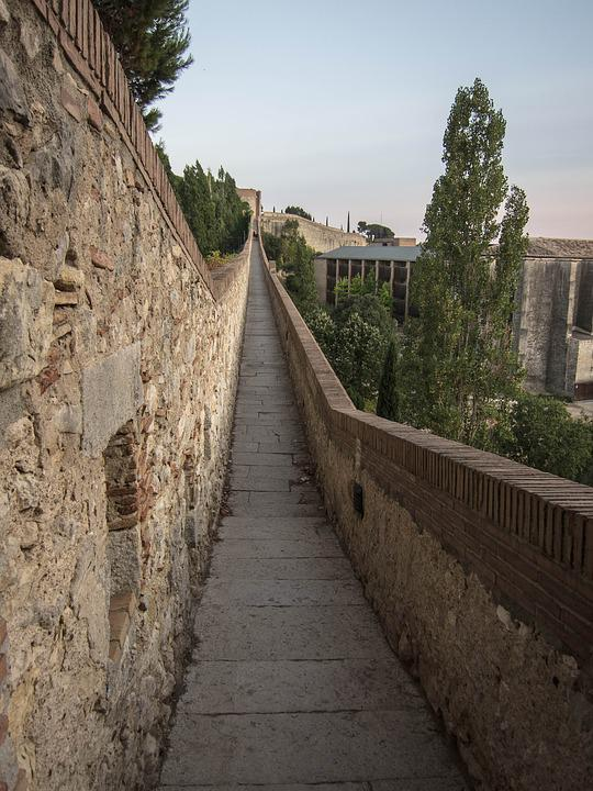 Girona, Wall, Cathedral, Aqueduct, Church, Architecture