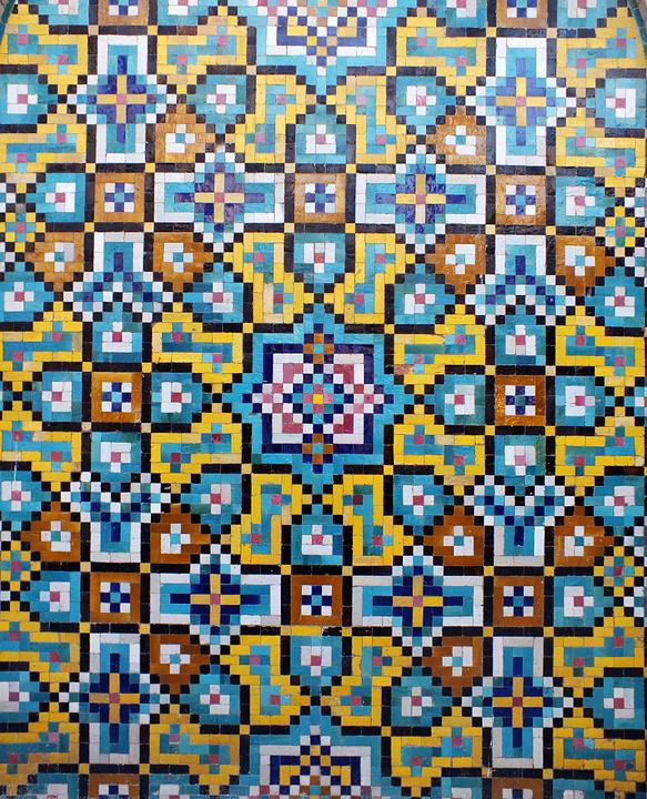Kashi, Iran, Islamic, Art, Islamicart, Mosaic, Wall Art