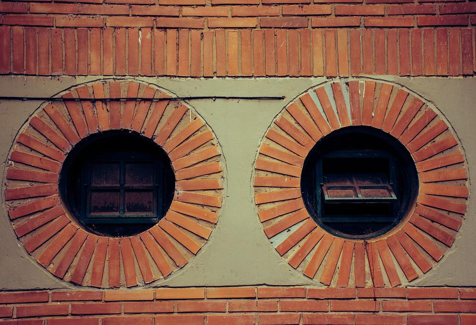 Architecture, Wall, Old, Brick, View, Round, Texture