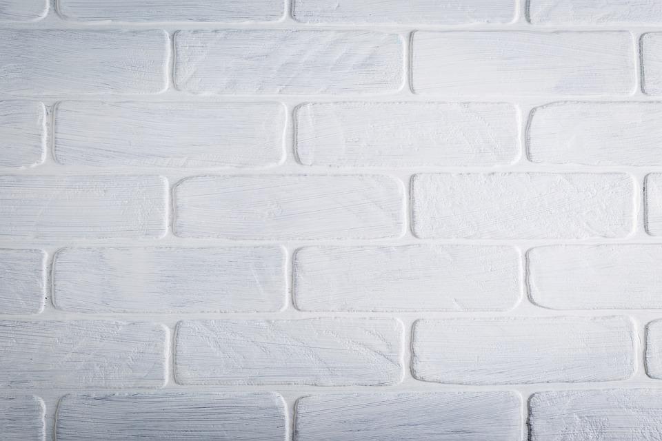 Texture, Brick, Wall, White, Paint, Pattern, Brick Wall