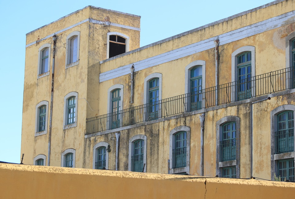 Portugal, Faro, Building, Wall, Factory, Abandoned, Old