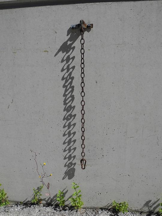 Chain, Shadow, Farm, Leave, Wall