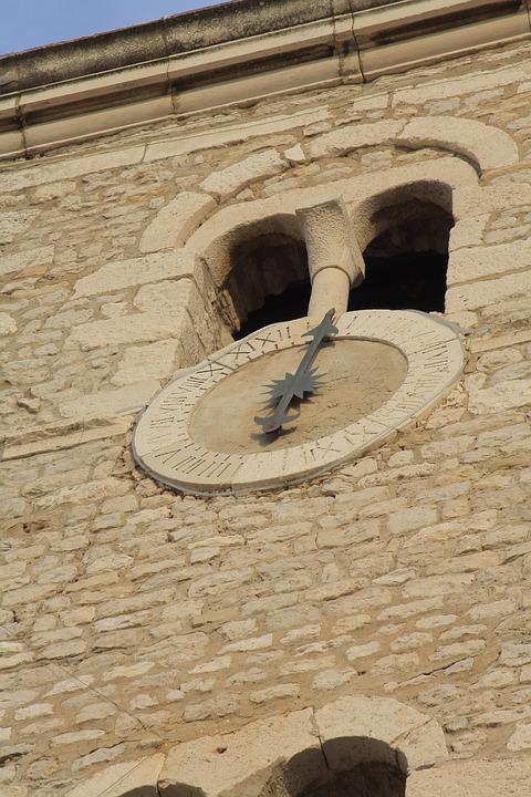 Church, Building, Wall, Stone, Clock, Time, Landmark