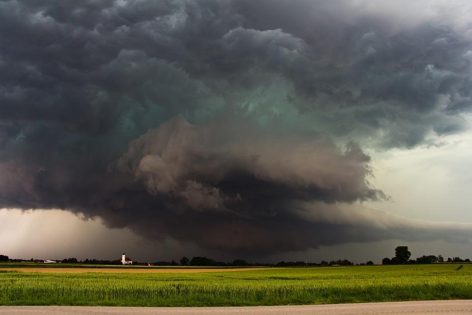 Storm, Super Cell, Wall Cloud, Green