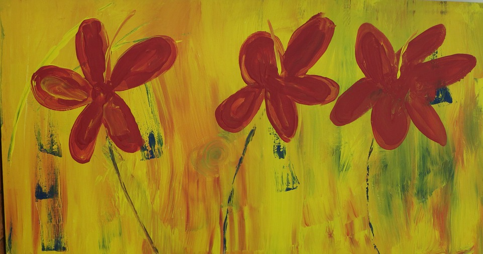Acrylic Painting, Wall Decor, Home Decoration, Floral