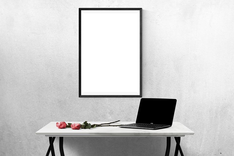 free photo wall desk template presentation poster mockup max pixel
