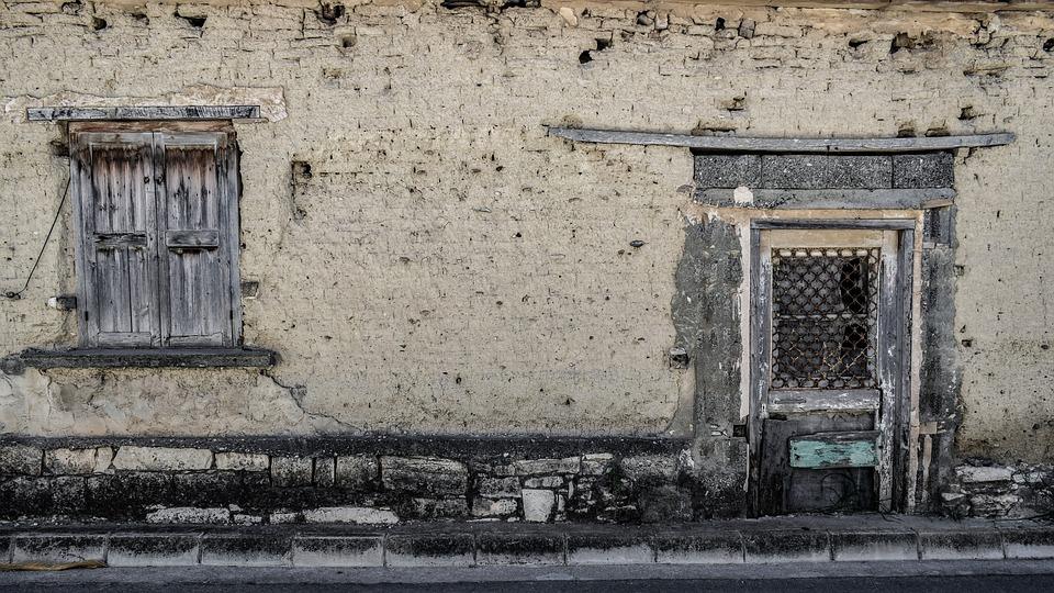 Door, Window, Wall, Old, Facade, Dirty, Weathered, Aged