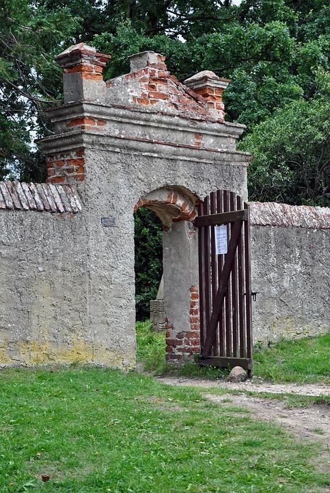 Goal, Wall, Input, Door, Old, Stone, Building