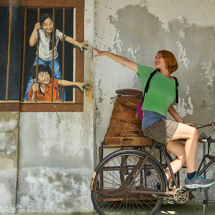 Woman, Human, Entertainment, Wall, Graffiti, Paint