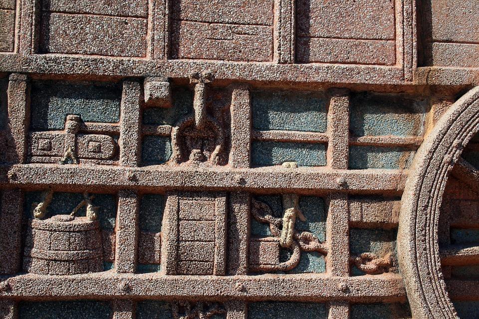 Relief, Granite, Depiction, Wall, Sculpting, Detail