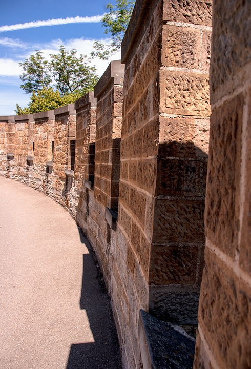 Castle Wall, Hohenzollern Castle, Wall, Germany