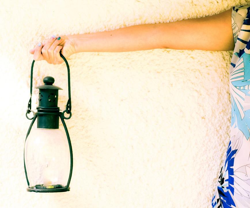 Lamp, Wall, Light