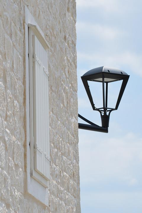 Nature, Stone, Natural, House, Wall, Lamp, Light