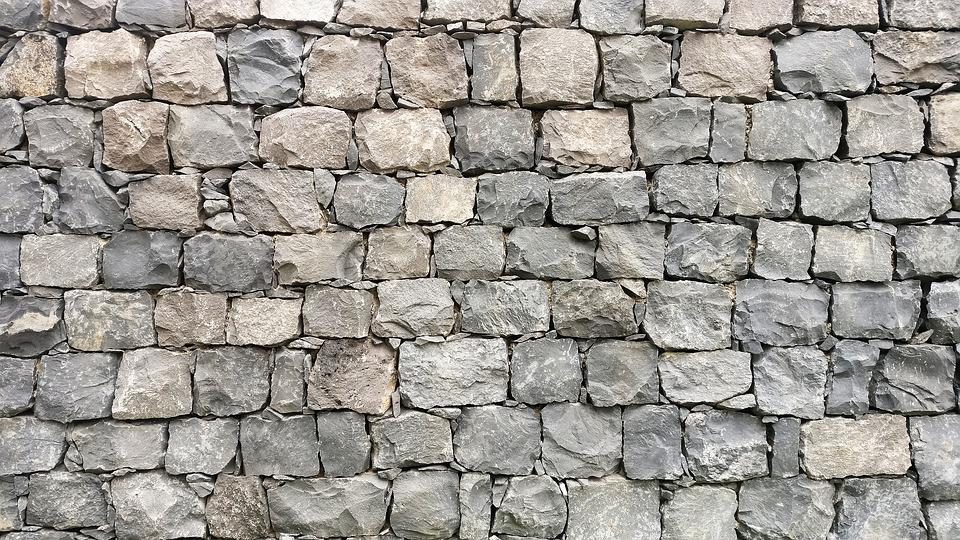 Stone, Wall, Gray, Outdoor, Pattern, Exterior, Texture