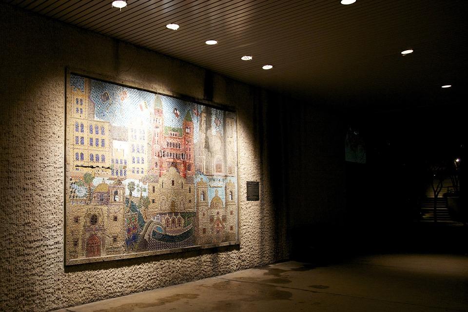 Stone, Mural, Wall, San Antonio, Brick, Painted Wall