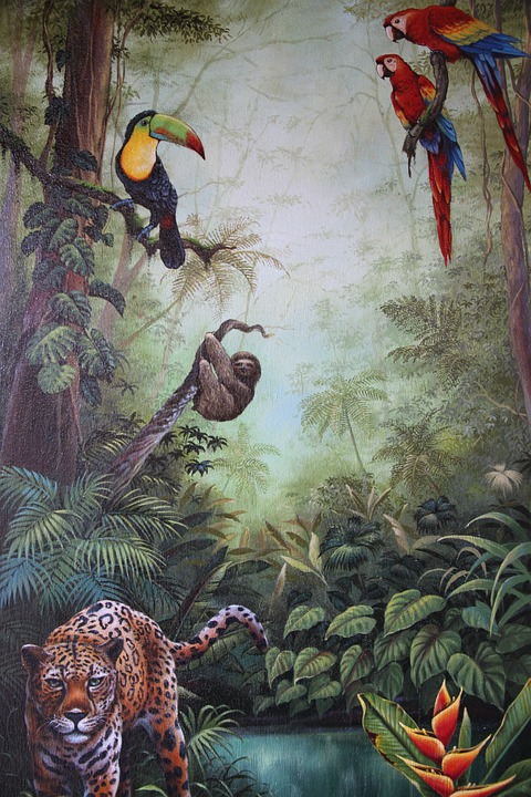 Wall Painting, Costa Rica, Animals