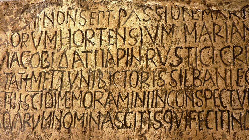 Latin, Rome, Vatican, Inscription, Wall, Stone
