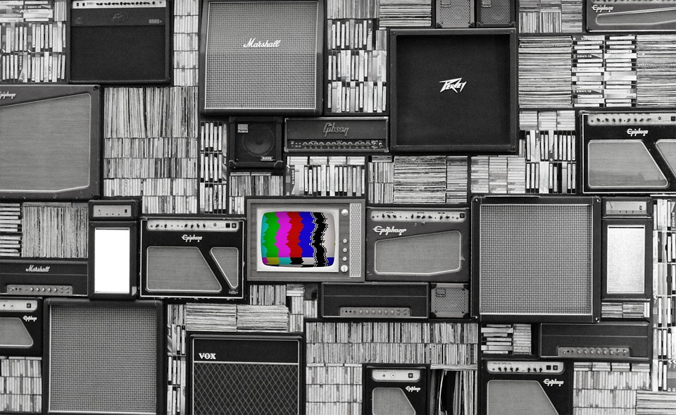 Tv, Wall, Vintage, Television, Amp, Amplifier, Sound