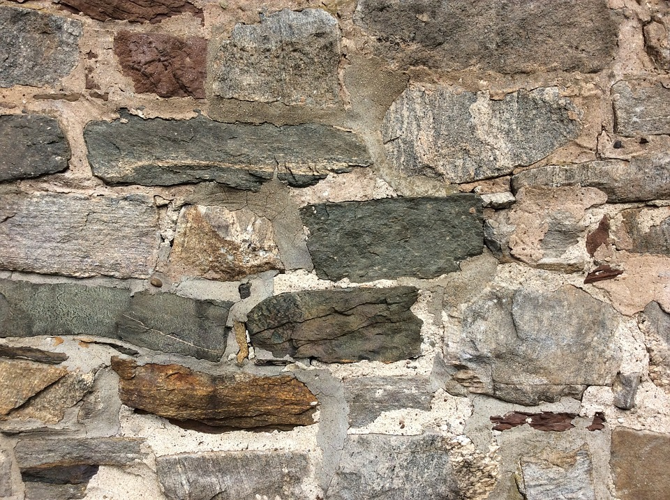 Stone Wall, Wall, Stone, Old, Colonial, Building