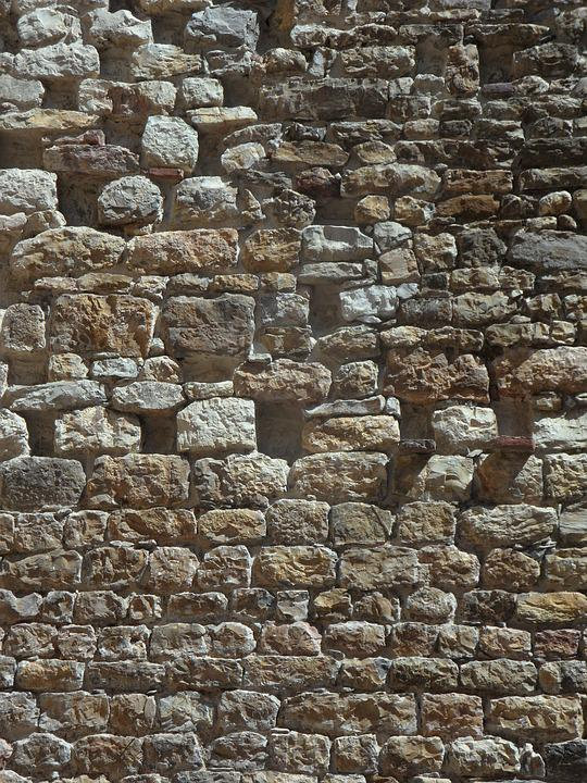 Stone Wall, Wall, Stone, Structure, Stones, Background