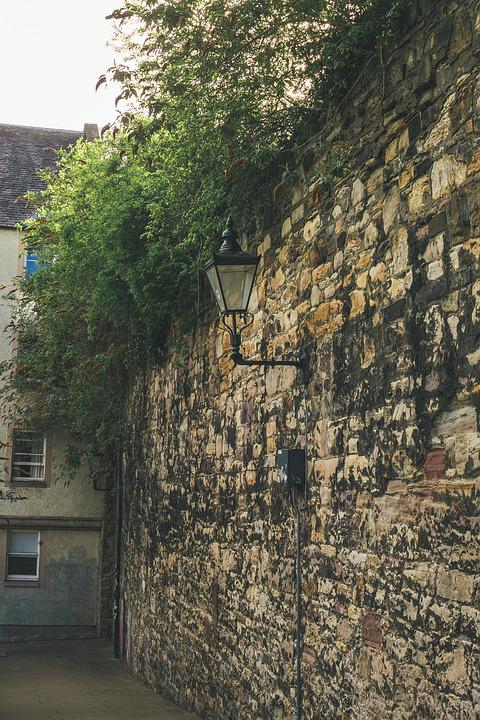 Lamp, Wall, Stone, Stone Wall, Old, Ancient, Street