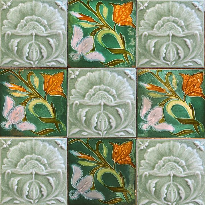 Free Photo Wall Tile Art Nouveau Ceramic Tile Tile Jugendstil Max