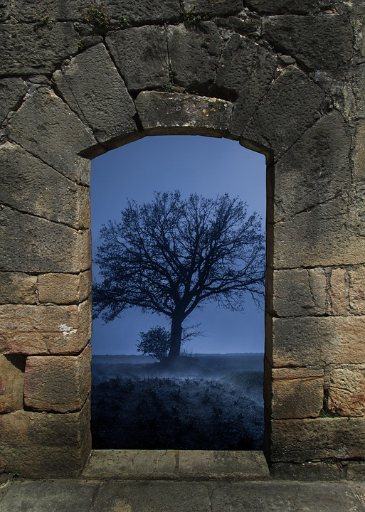 Arch, Tree, Fog, Stone Wall, Wall House, Wall, Medieval