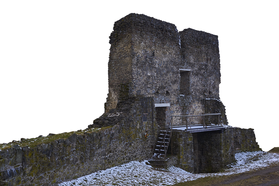 Ruin, View, Snow, Building, Wall, Castle, Old, Outlook