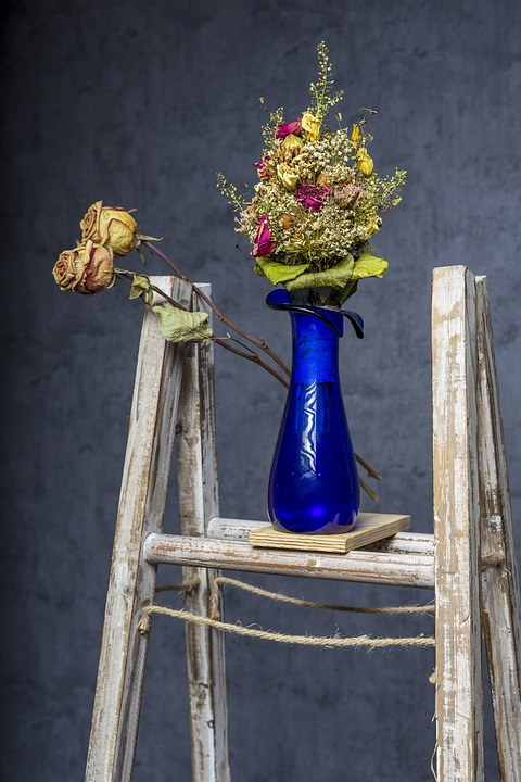 Bouquet, Dry Shrub, Head, Color, Summer, View, Wall