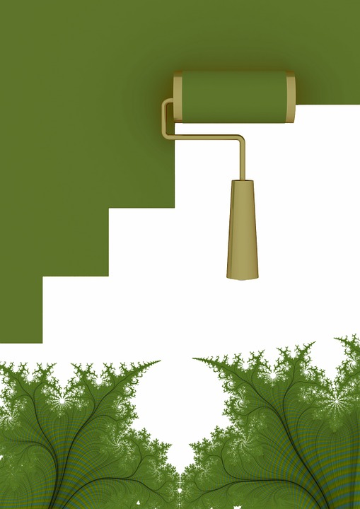 Wall, Paint, Abstract, Wallpaper, Fractals, Green