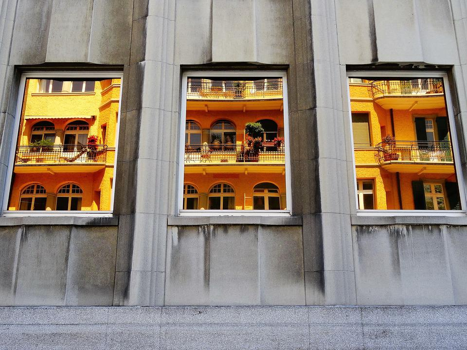 Window, Mirroring, Reflection, Wall