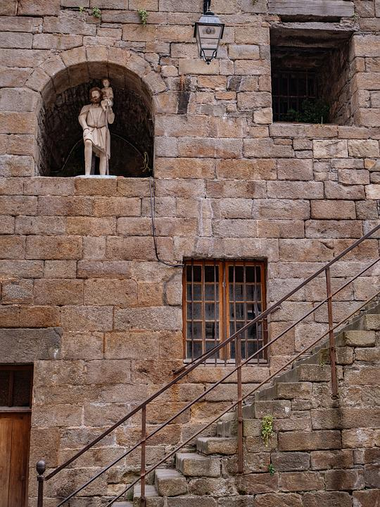 Old, Historic, Statue, Wall, Iron Work, Steps, Window
