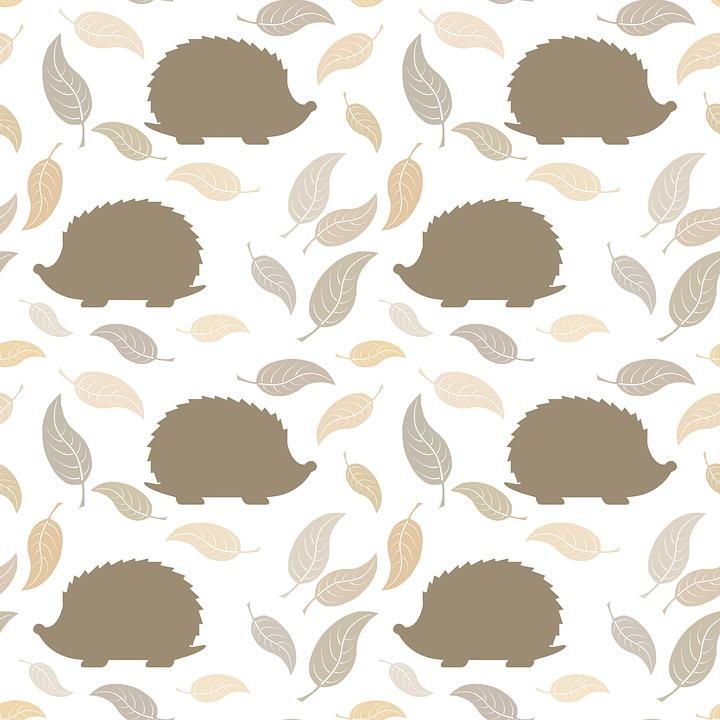 Hedgehogs, Mammals, Leaves, Background, Wallpaper