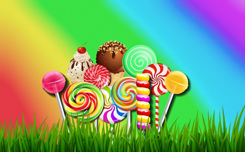 Wallpaper Background Colorful Candy Multi Colors