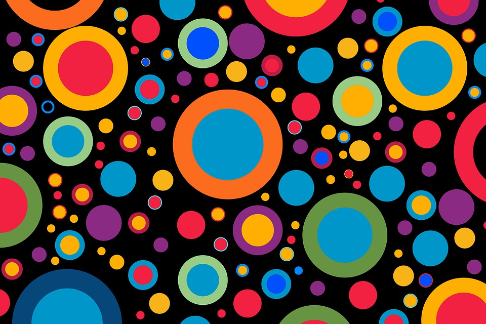 Free Photo Wallpaper Colorful Pattern Color Circle Rings