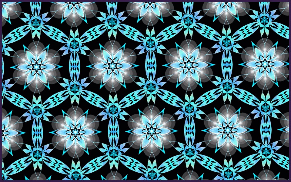 Backgrounds, Pattern, Wallpaper, Turquoise, Flowers