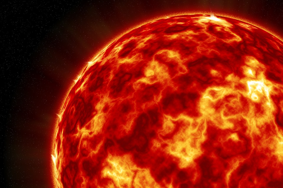 Wallpaper, Background, Sun, Planet, Galaxy, Space, Red