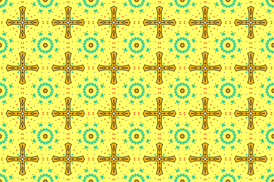 Yellow, Retro, Vintage, Wallpaper, Pattern, Background