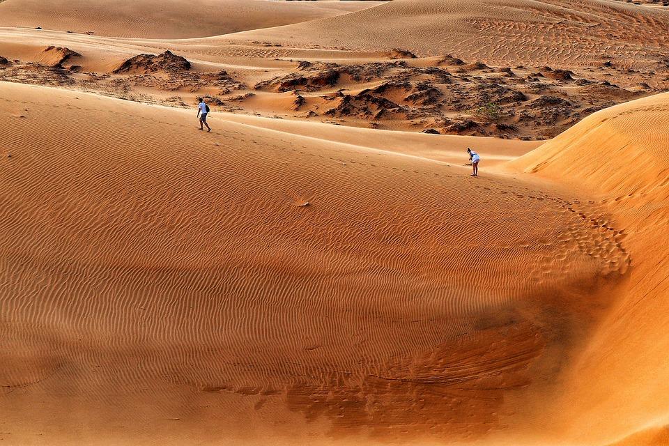 Vietnam, Mui Ne, Sand, Roter Sand, Wanderer, Hiking